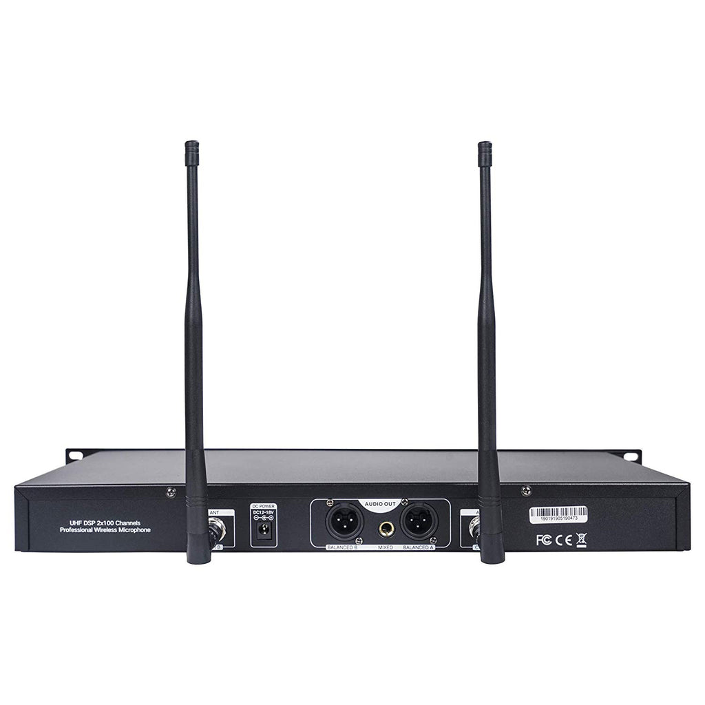 Sound Town NESO-SU2 Series Wireless Microphone System Receiver Back Panel