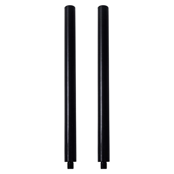 2-Pack Subwoofer/Speaker Extender Poles, Fits M20 Threading, Black (STSD-M20B-PAIR)