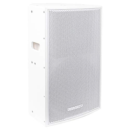 "CARME-115WV2 <br/> CARME Series 15"" 800W 2-Way Professional PA DJ Monitor Speaker, White w/ Compression Driver for Installation, Live Sound, Karaoke, Bar, Church"