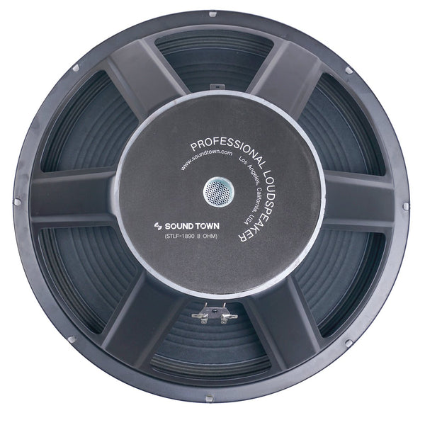 "Sound Town 18"" Raw Woofer Speaker, 400 Watts Pro Audio PA DJ Replacement Subwoofer Low Frequency Driver (STLF-1890)"
