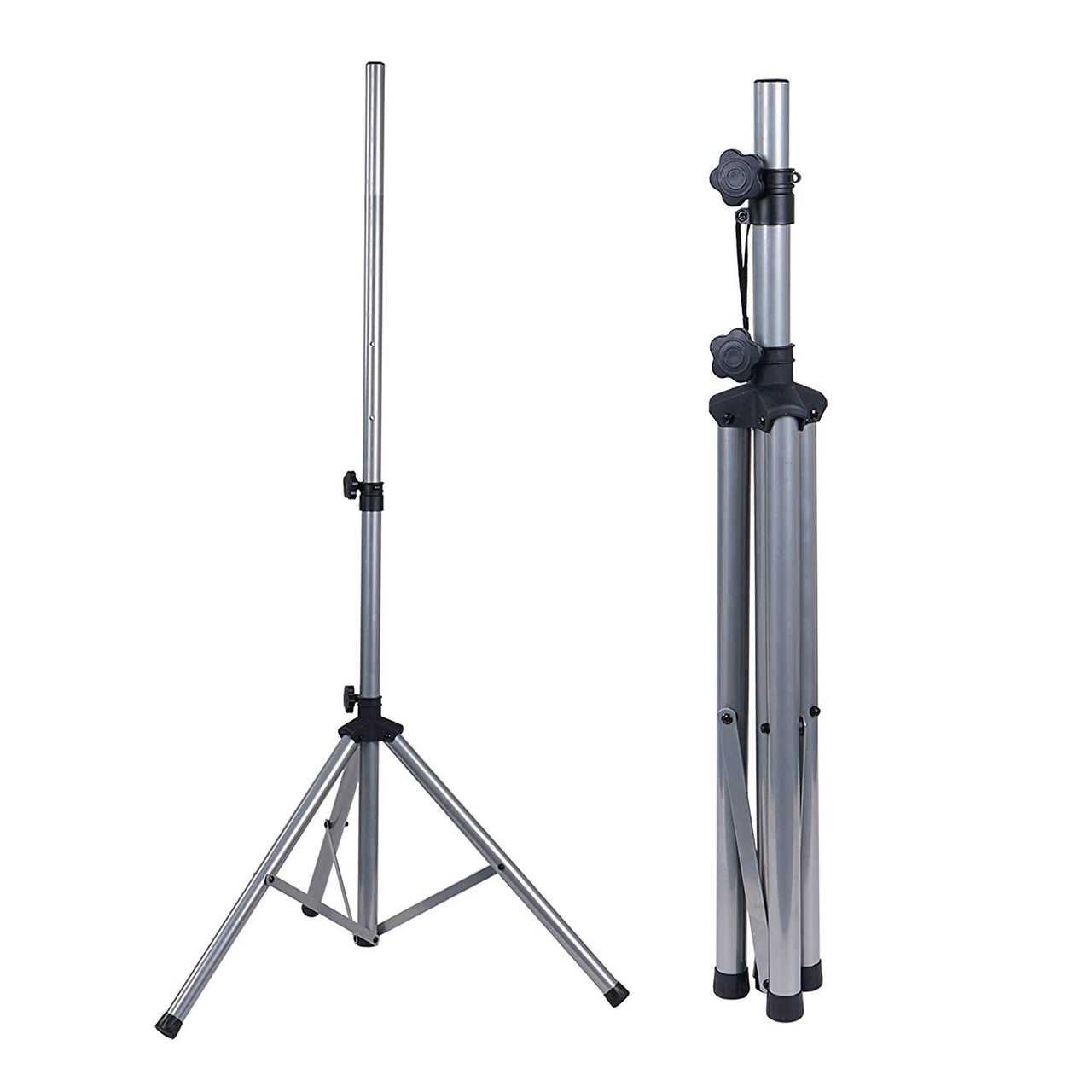 Universal Tripod Speaker Stand with Adjustable Height, 35mm Compatible Insert, Locking Knob and Shaft Pin (STSD-71W)