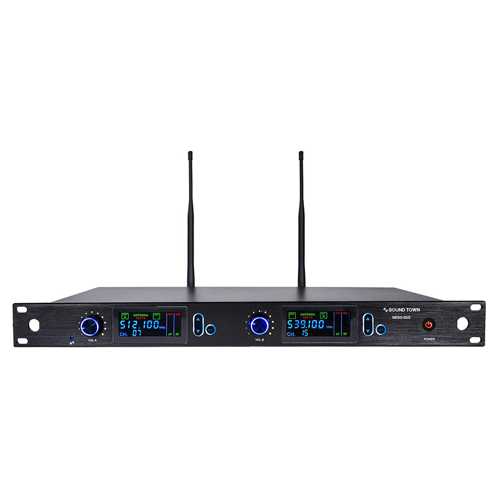 Sound Town NESO-SU2 Series Wireless Microphone System Receiver Front Panel