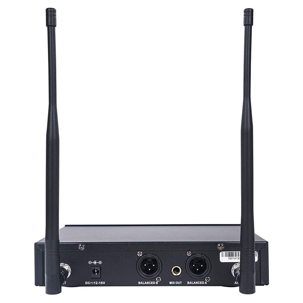 Sound Town SWM26 Series Wireless Microphone System Receiver Back Panel