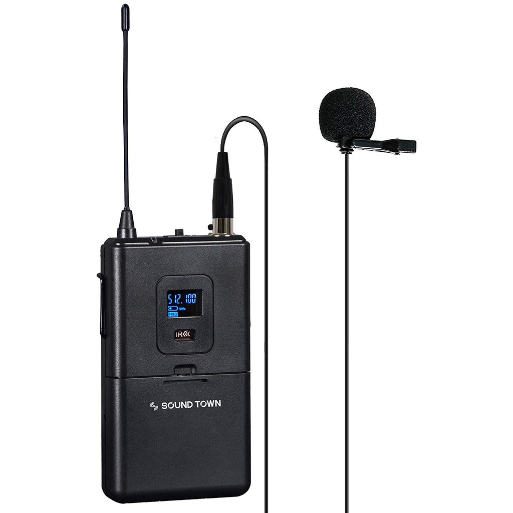 Sound Town NESO-SU2 Series Wireless Microphone Body Pack with Lavalier