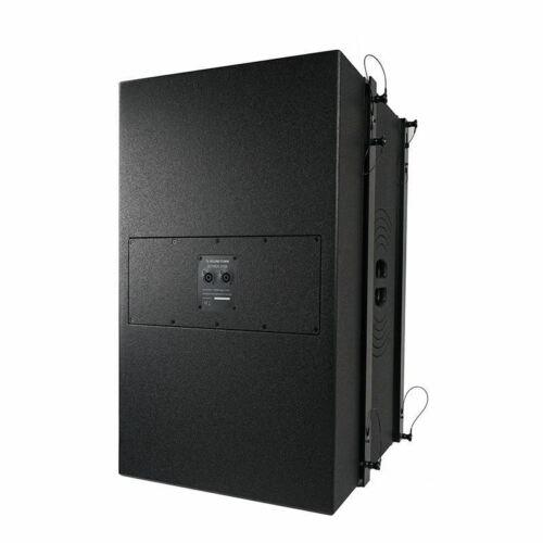 "Sound Town ZETHUS-215S ZETHUS Series Dual 15"" 1600W Line Array Subwoofer, Black - Left Back Panel"
