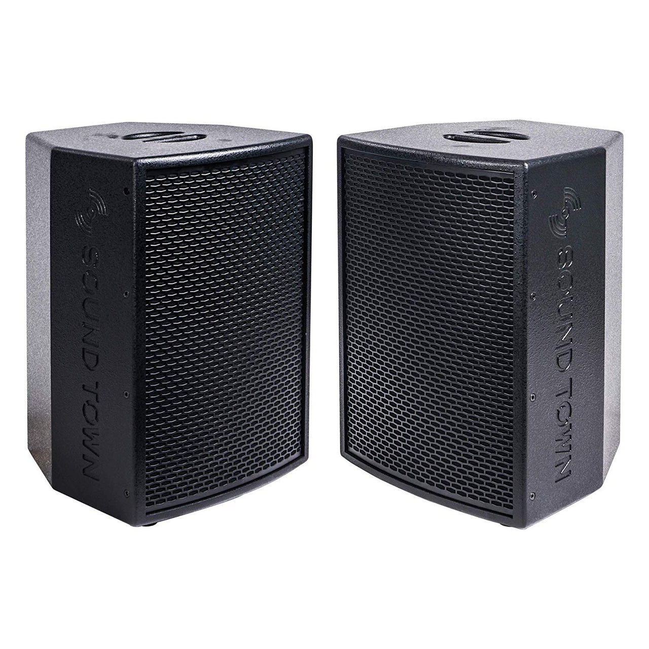 "KALE-110BPW-PAIR <br/>KALE Series 2-Pack 10"" 500W Powered DJ PA Speaker Set with Bluetooth, Titanium Compression Driver and 3-Channel Mixer for Mobile DJ, Live Sound, Karaoke, Bar, Church, Black"
