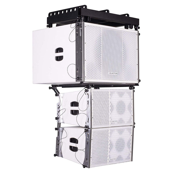 ZETHUS Series Line Array Speaker System with One 15-inch Powered Line Array Subwoofer, Two Compact 1 X 10-inch Line Array Speakers, White (ZETHUS-115SWPW110WX2)