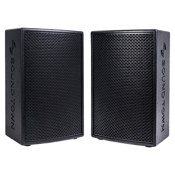 "KALE-112BPW-PAIR <br/> 2-Pack 12"" 1400W Powered DJ PA Speaker w/ Bluetooth, Titanium Compression Driver, 3-Channel Mixer, Black"