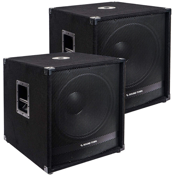 "2-Pack 18"" 4000 Watts Powered Subwoofers with DSP, DJ PA Pro Audio Sub with 4 inch Voice Coil (METIS-18SPW-PAIR)"
