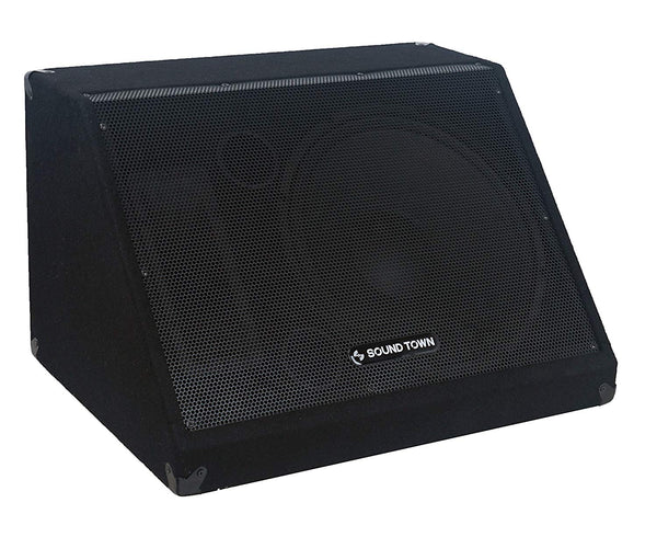 "METIS-15M-PAIR <br/> METIS Series 2-Pack 15"" 600W Passive DJ PA Stage Floor Monitor Speakers with Compression Driver for Live Sound, Bar, Church"