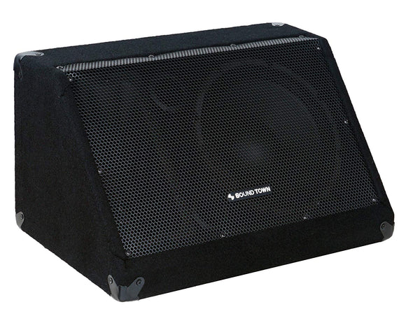 "METIS-10M-PAIR <br/> METIS Series 2-Pack 10"" 300W Passive DJ PA Stage Floor Monitor Speakers with Compression Driver for Live Sound, Bar, Church"