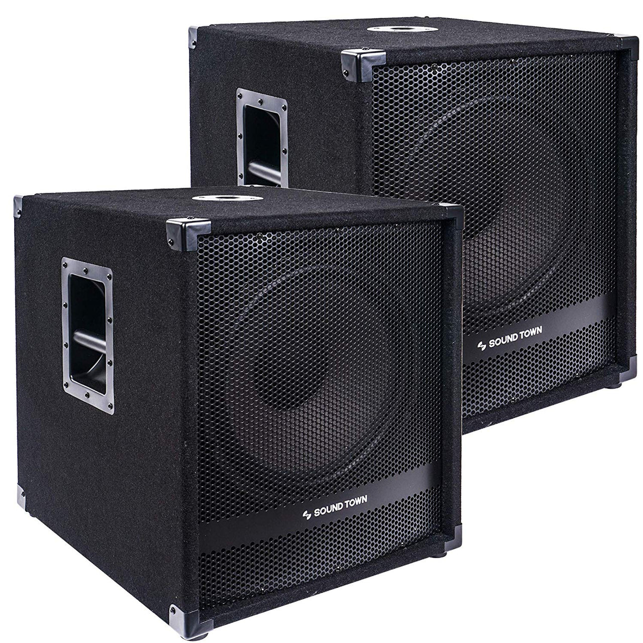 "2-Pack 15"" 3200 Watts Powered Subwoofers with DSP, DJ PA Pro Audio Sub with 4-inch Voice Coil (METIS-15SPW-PAIR)"
