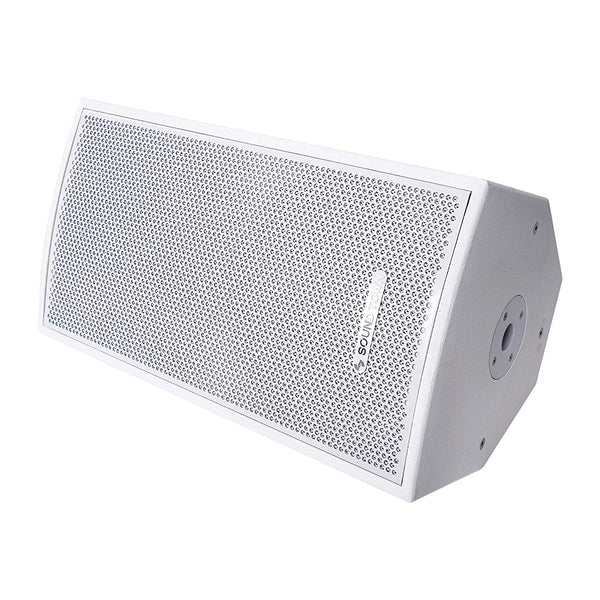 "CARME-112WPW <br/> CARME Series 12"" 2-Way Powered Professional PA DJ Monitor Speaker, White w/ Compression Driver for Installation, Live Sound, Karaoke, Bar, Church"