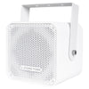 "CARME-105W Sound Town Compact 2-way 5"" Coaxial Wall Mount Commercial Loudspeaker, White, with 5"" Woofer, Speed Mounting Bracket for Bar, Church - Left Panel"