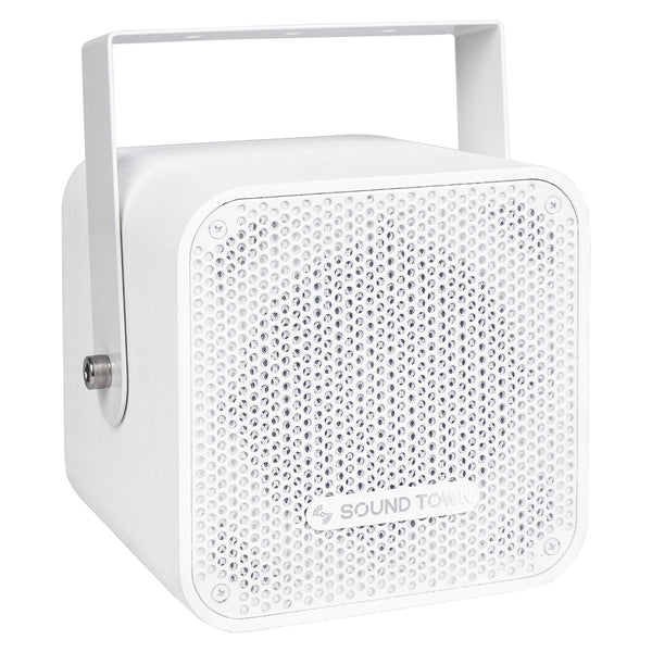 "CARME-105W Sound Town Compact 2-way 5"" Coaxial Wall Mount Commercial Loudspeaker, White, with 5"" Woofer, Speed Mounting Bracket for Bar, Church - Right Panel"