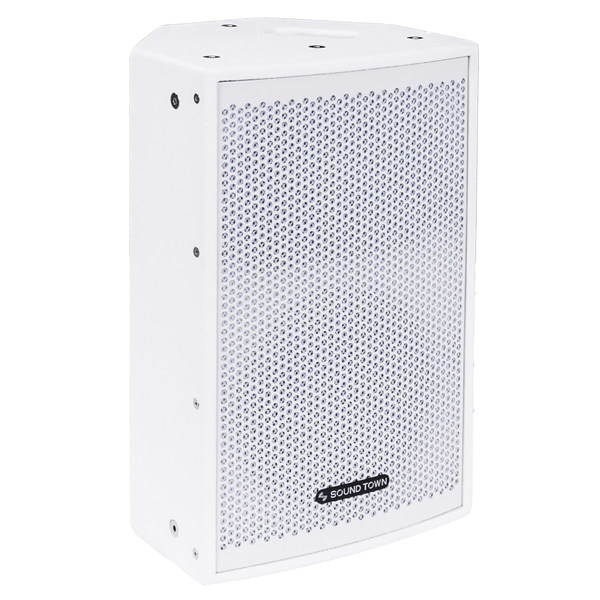 "CARME-108W <br/> CARME Series 8"" 350W 2-Way Professional PA DJ Monitor Speaker, White w/ Compression Driver for Installation, Live Sound, Karaoke, Bar, Church"