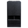 "Sound Town CARME-110SPW-PAIR CARME Series 10"" 600W Powered PA/DJ Subwoofer with Folded Horn Design, Black - Front Panel"