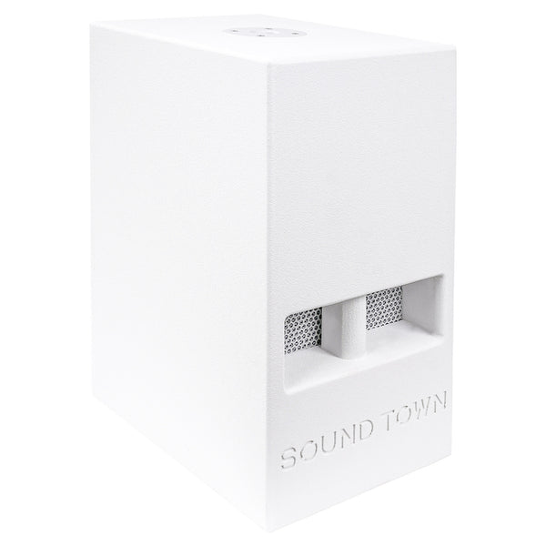 "CARME Series 10"" 600W Passive PA/DJ Subwoofer with Folded Horn Design, White (CARME-110SW)"