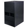 "Sound Town CARME-112SPW-PAIR CARME Series 10"" 600W Powered PA/DJ Subwoofer with Folded Horn Design, Black - Left Panel"