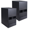 "Sound Town CARME-112SPW-PAIR CARME Series 2-Pack 12"" 800 Watts Powered PA DJ Subwoofers with Folded Horn Design, Black"