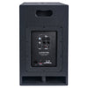 "Sound Town CARME-112SPW-V5PW CARME Series 10"" 600W Powered PA/DJ Subwoofer with Folded Horn Design, Black - Back Panel"