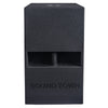 "Sound Town CARME-112SPW CARME Series 12"" 800W Powered PA/DJ Subwoofer with Folded Horn Design, Black - Front Panel"