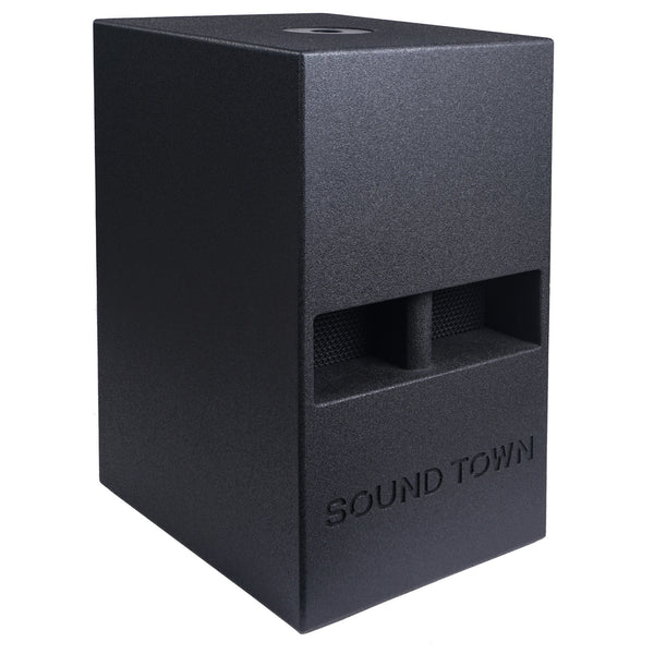 "CARME-112S<br/>CARME Series 12"" 800W Passive PA/DJ Subwoofer with Folded Horn Design, Black"