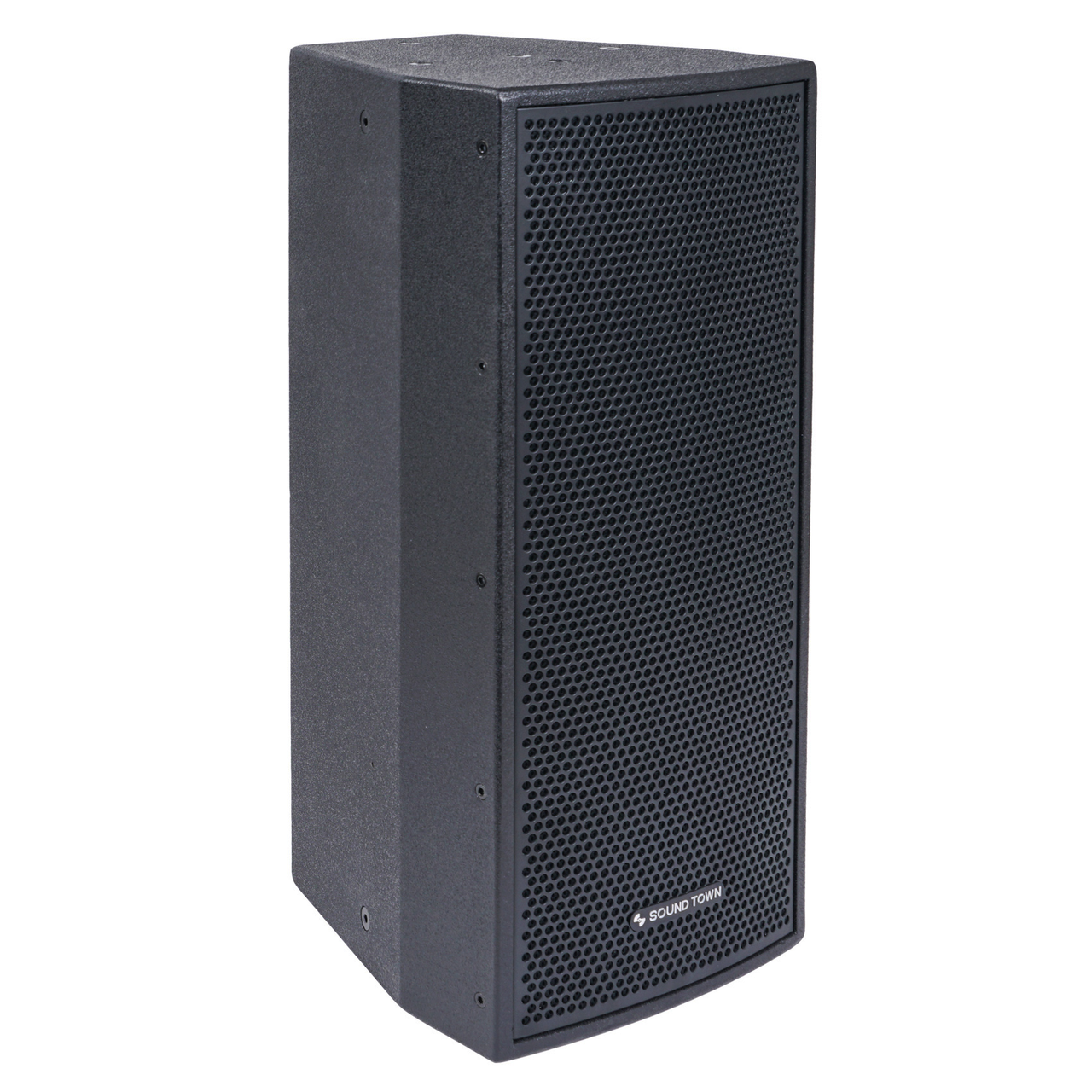 "CARME Series Dual 8"" 600W 2-Way Professional PA DJ Speaker, Black with Compression Driver for Installation, Live Sound, Karaoke, Bar, Church (CARME-208BV2)"
