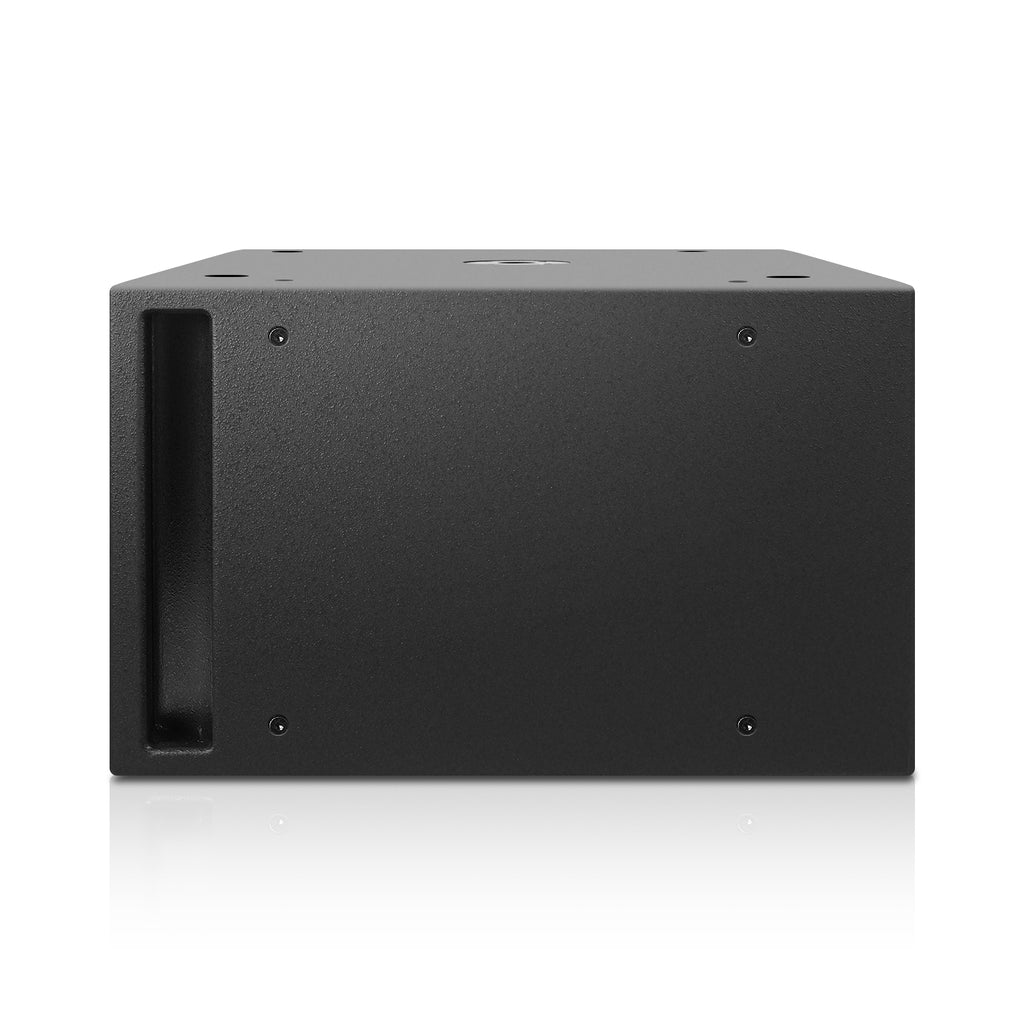 "Sound Town CARME-212S CARME Series Dual 12"" 1600W Passive PA DJ Subwoofer with Folded Horn Design, Black, for Lounge, Club, Bar, Theater, Restaurant, Church, 38 Hz, Birch Plywood, Texture Coating, Side Panel"