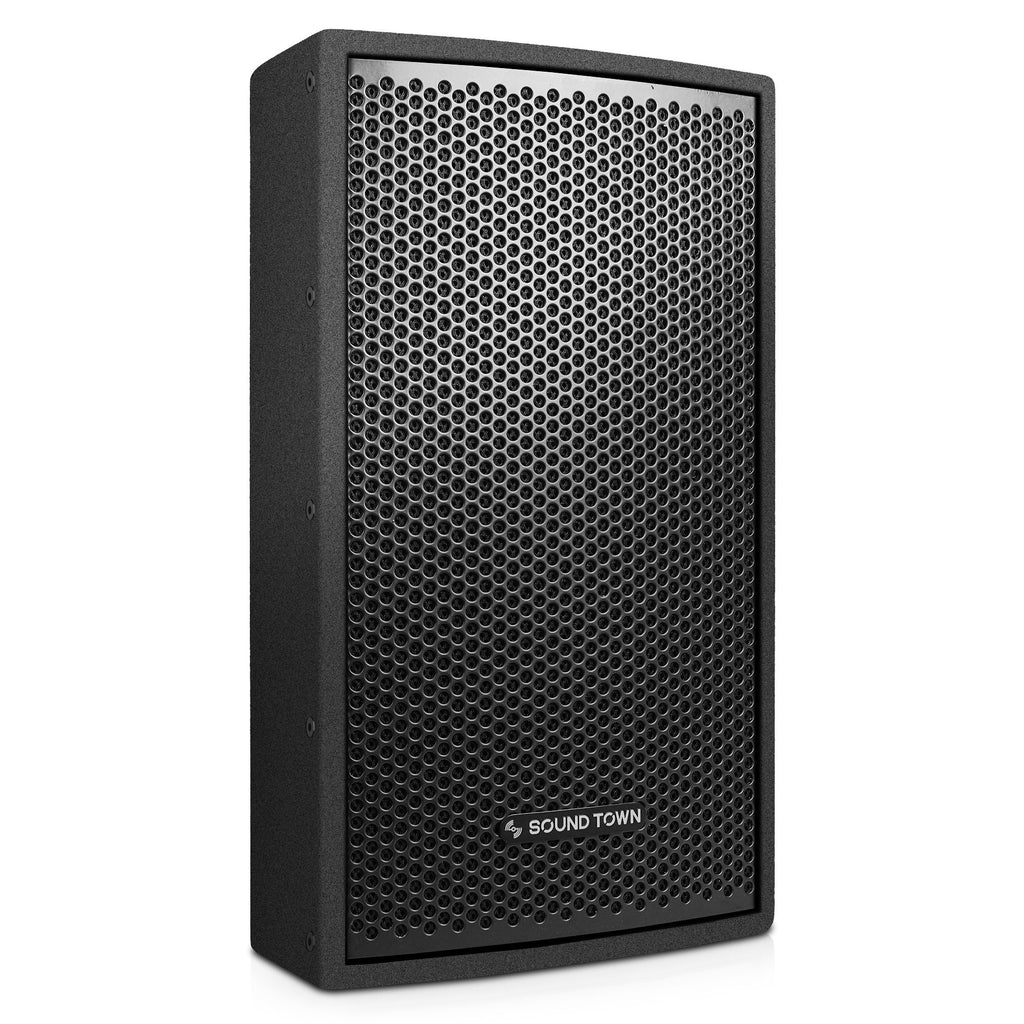 "Sound Town CARME-U108BNIX CARME Series 8"" Passive 350W 2-Way Professional Wall-Mount Stage Monitor Loudspeaker, Black with Compression Driver and U Bracket for Commercial Audio Installation, Live Sound, Karaoke, Bar, Church - Right Panel"