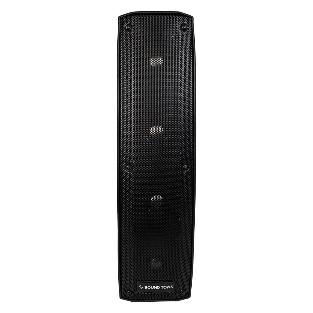 CARPO-V412DS 500W Passive Column Speaker Mini Line Array System w/ 4 X 4 inch Column Speaker - front panel