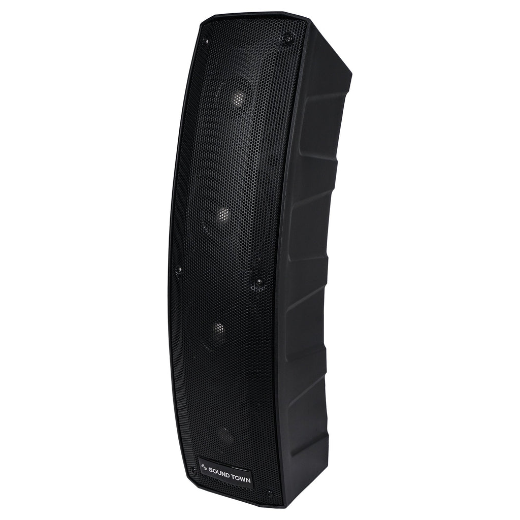 CARPO-V412DS 500W Passive Column Speaker Mini Line Array System w/ 4 X 4 inch Column Speaker - left panel