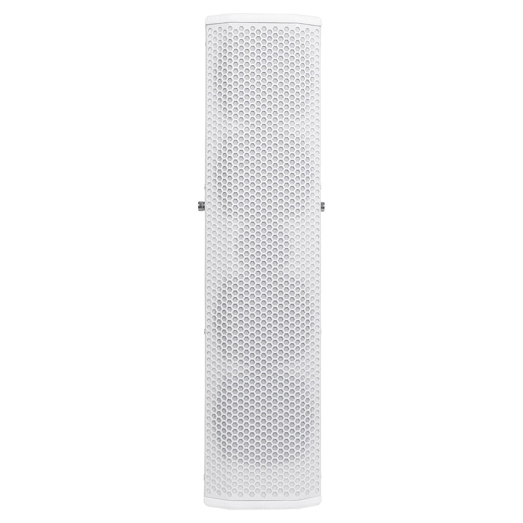 "Sound Town CARPO-V5W12 Passive Wall-Mount Column Mini Line Array Speakers with 4 x 5"" Woofers, White for Live Event, Church, Conference, Lounge, Commercial Audio Installation - Front Panel"
