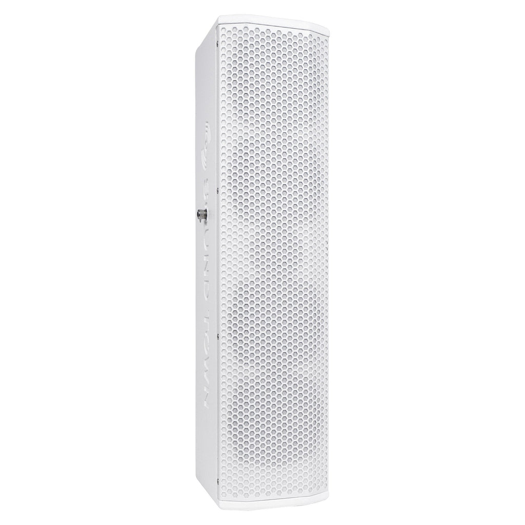 "Sound Town CARPO-V5W12 Passive Wall-Mount Column Mini Line Array Speakers with 4 x 5"" Woofers, White for Live Event, Church, Conference, Lounge, Commercial Audio Installation - Right Panel"
