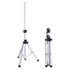 Sound Town CARPO-V5W15 2-Pack Universal Tripod Speaker Stands with Adjustable Height, 35mm Compatible Insert, Locking Knob and Shaft Pin, White