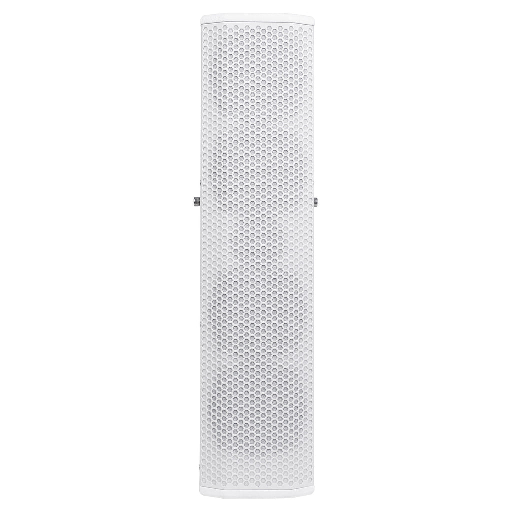 "Sound Town CARPO-V5W15 Passive Wall-Mount Column Mini Line Array Speakers with 4 x 5"" Woofers, White for Live Event, Church, Conference, Lounge, Commercial Audio Installation - Front Panel"