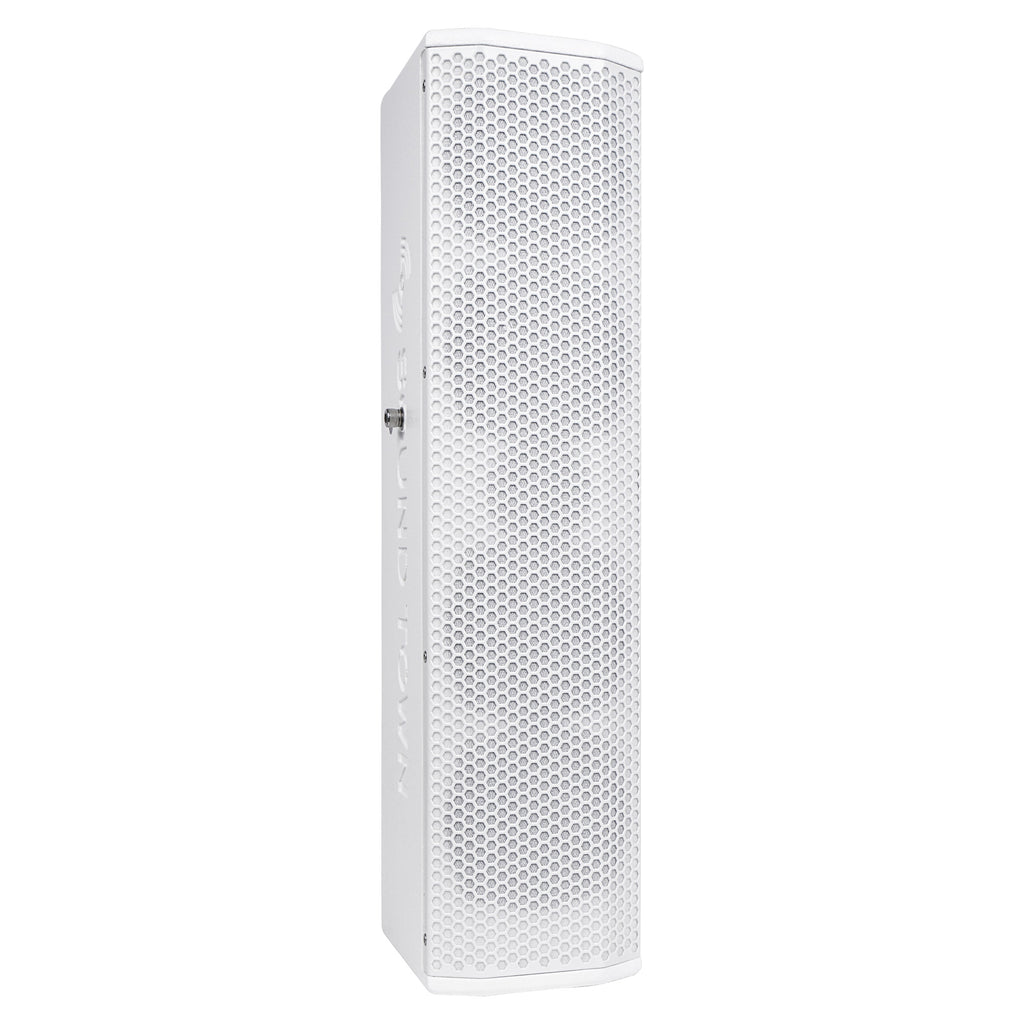 "Sound Town CARPO-V5W15 Passive Wall-Mount Column Mini Line Array Speakers with 4 x 5"" Woofers, White for Live Event, Church, Conference, Lounge, Commercial Audio Installation - Right Panel"