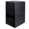 "Sound Town KALE-208BCE CARME Series 10"" 600W Powered PA/DJ Subwoofer with Folded Horn Design, Black - Left Panel"
