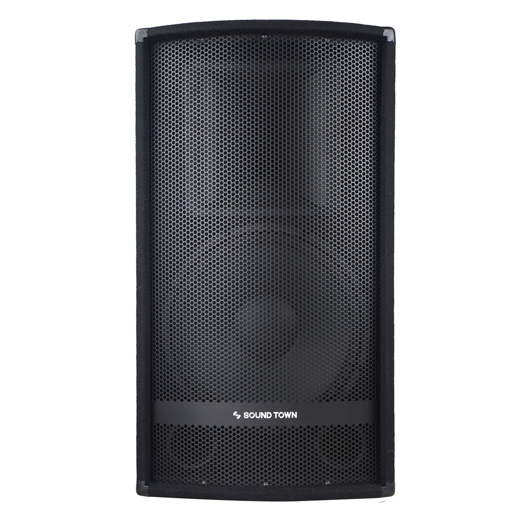 "Sound Town METIS-115UPDM METIS Series 15"" 700W 2-Way Full-range Passive DJ PA Pro Audio Speaker with Compression Driver for Live Sound, Karaoke, Bar, Church - Front Panel"