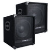 "METIS-12SPW-PAIR<br/>METIS Series 2-Pack 12"" 1400 Watts Powered PA DJ Subwoofers with 3"" Voice Coil"