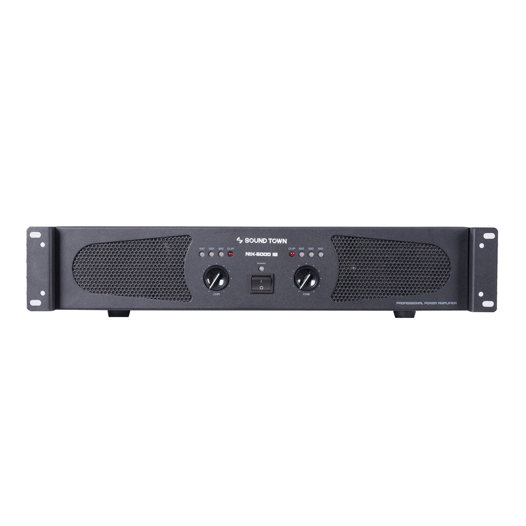 Sound Town METIS-1518SPW-NIXS1 Professional Dual-Channel 6000W Power Amplifier - Front Panel