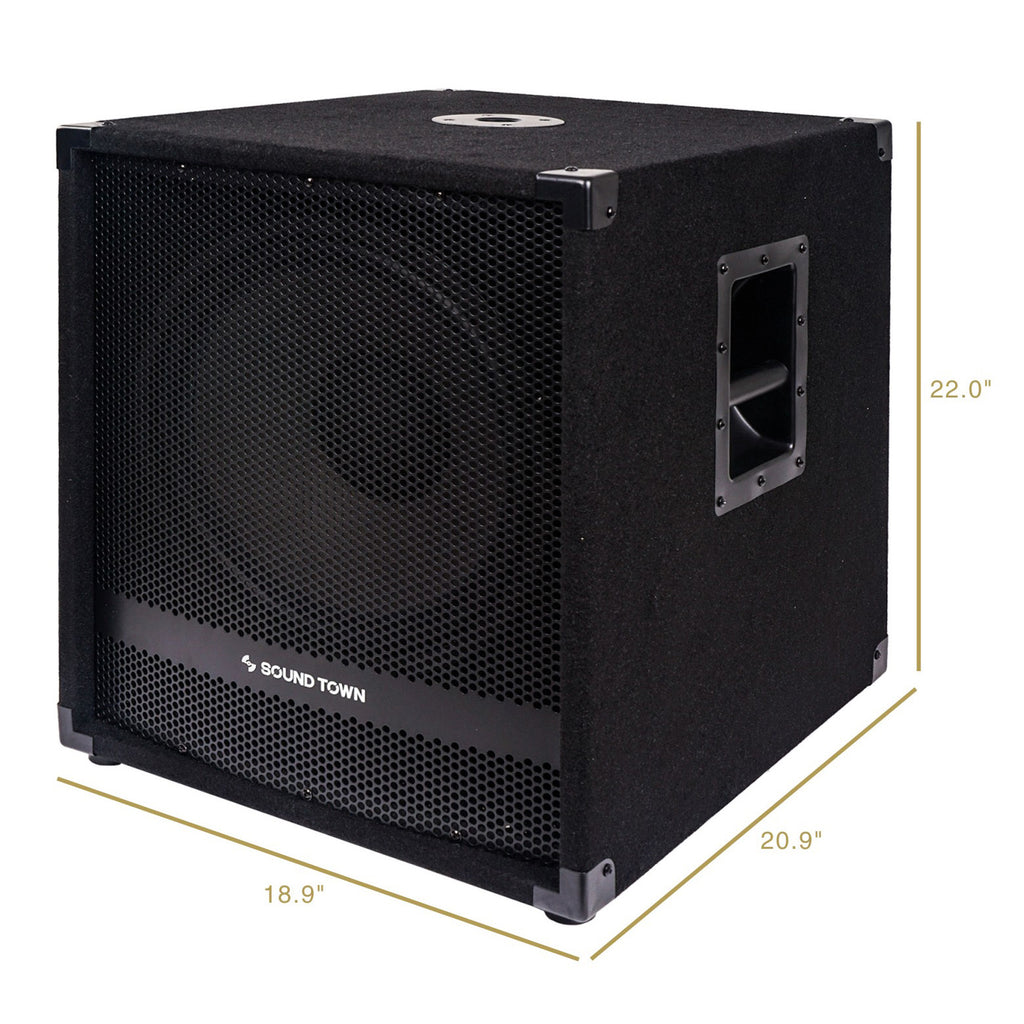 Sound Town METIS-15SDPW Subwoofer Dimensions and Size