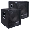 "Sound Town METIS-15SPW2.1-PAIR METIS Series 15"" 1600W Powered Subwoofers with Speaker Outputs, DJ PA Pro Audio Sub with 4-inch Voice Coil - Active"