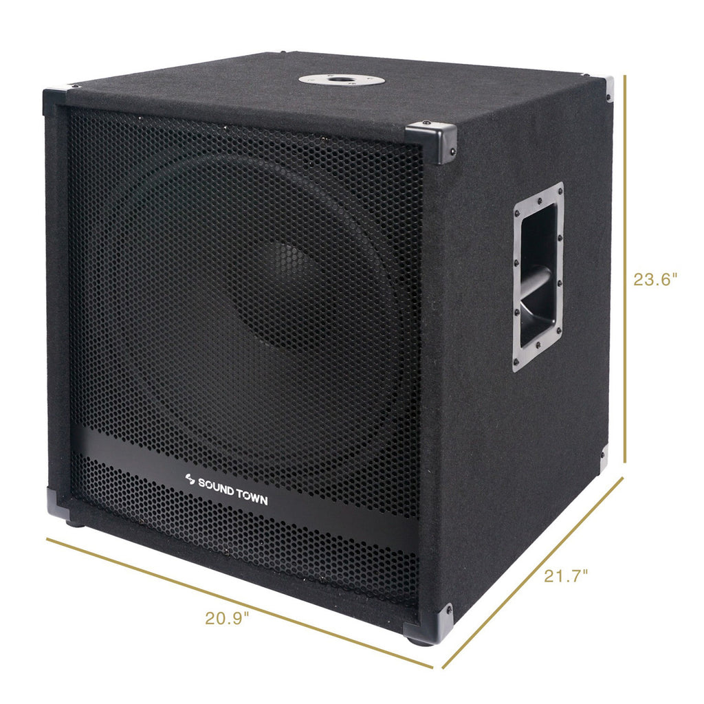 Sound Town METIS-18SPW2.1 Subwoofer Dimensions and Size