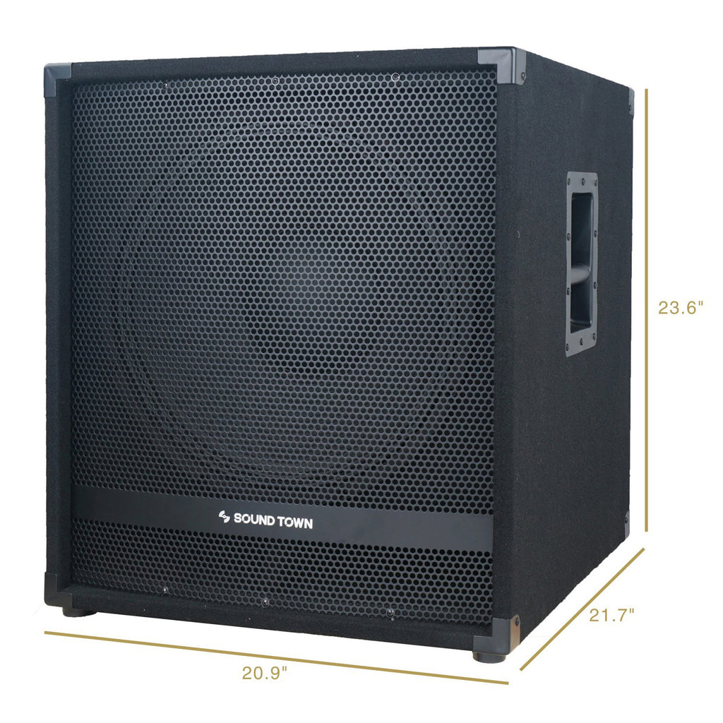 Sound Town METIS-18SPW Subwoofer Dimensions and Size
