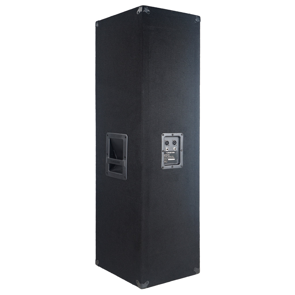 "Sound Town METIS-215UPDM METIS Series Dual 15"" 1400W 2-Way Full-range Passive DJ PA Pro Audio Speaker with Titanium Compression Driver for Live Sound, Karaoke, Bar, Church - Side Panel"