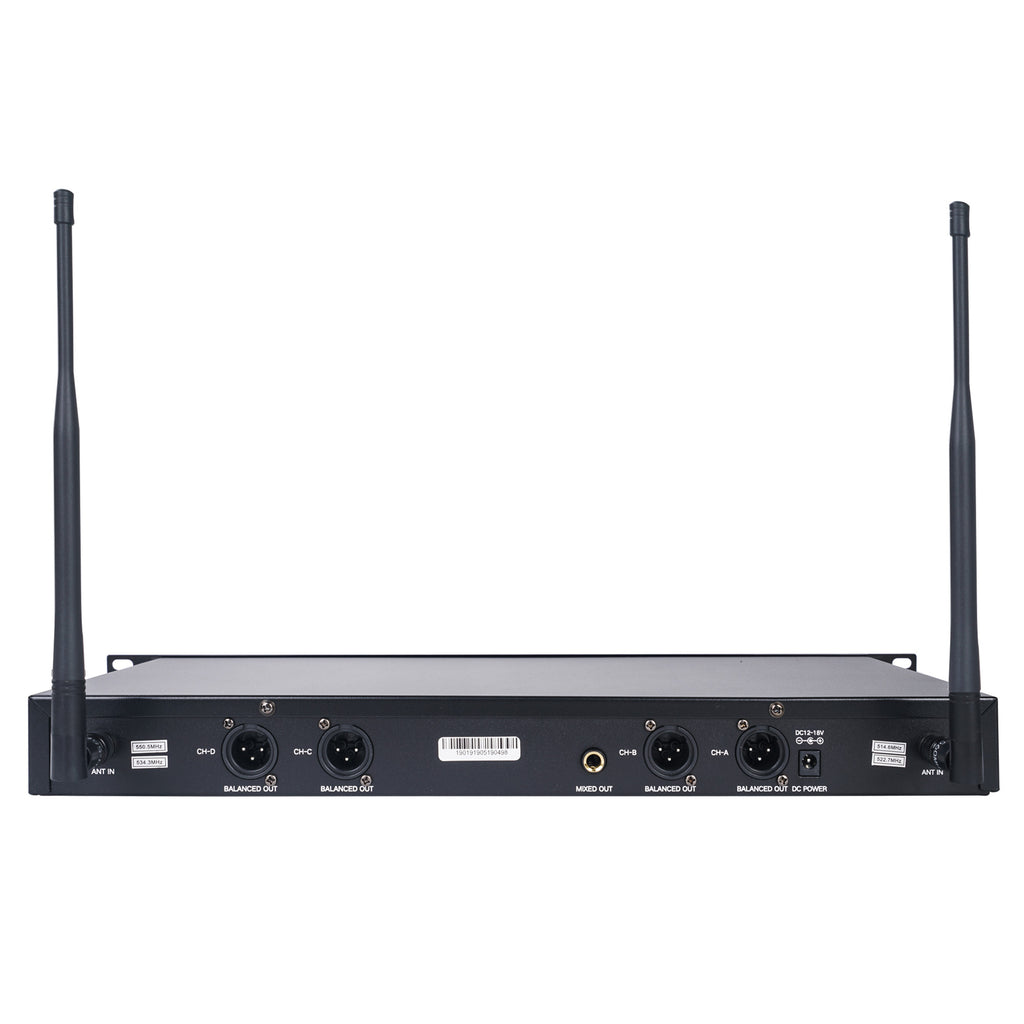 Sound Town NESO-F4 Series Wireless Microphone System Receiver Back Panel