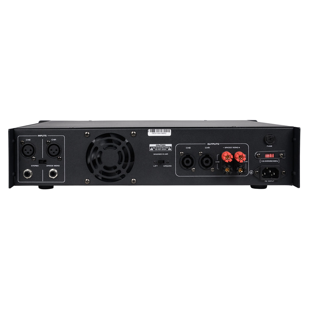 Sound Town NIX-4000IB Professional Dual-Channel, 2 x 1000W at 4-ohm, 4000W Peak Output Power Amplifier - Back Panel