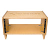Sound Town SDRK-4SL 4U Angled Desktop Turret Studio & Recording Equipment Rack with Baltic Birch Plywood - Audio Cabinet