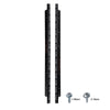 Sound Town ST-RR-14U 2-pack 14U Steel Rack Rails, with Black Powder Coated Finish and Screws
